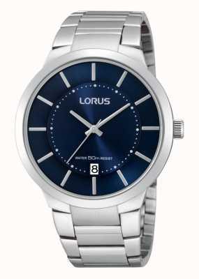 Lorus Reloj del vestido de acero inoxidable de Gent RS935BX9