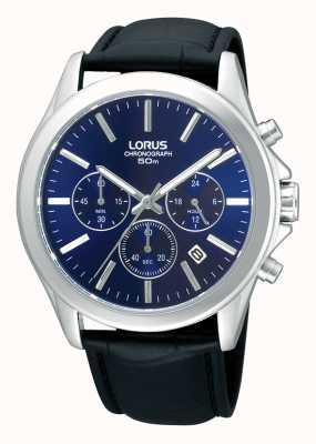 Lorus reloj cronógrafo para hombre de la correa de cuero RT389AX9
