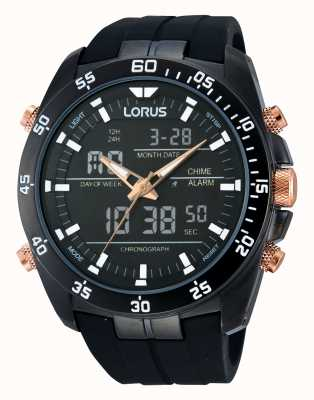 Lorus Reloj cronógrafo alarma negro RW615AX9