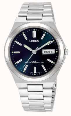 Lorus Reloj para hombre de la fecha de día de línea azul oscuro RXN17BX9