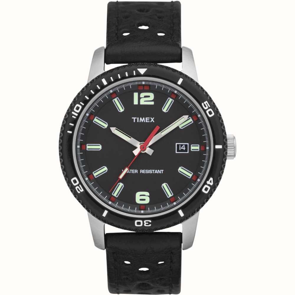 46c66a898855 Timex Estilo Del Reloj De Buceo Negro De Los Hombres T2N662 - First ...