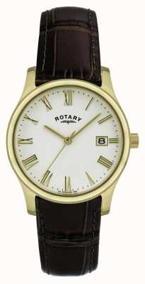 Reloj Caballero Rotary Chapado en Oro Correa de Piel GSI0794/32