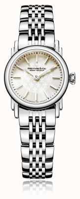 Dreyfuss Reloj de acero inoxidable con madreperla para mujer DLB00047/07