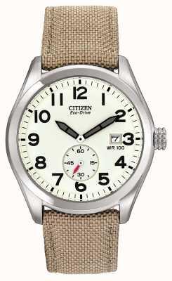 Citizen Reloj eco-drive para hombre con correa de lona BV1080-18A