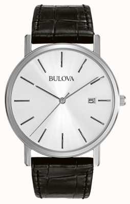 Reloj de Caballero Bulova Vestir Plata Negro 96B104