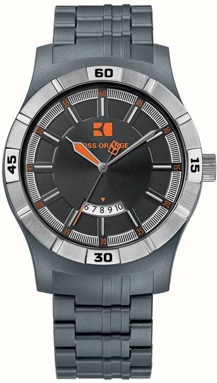 bedef14463df Hugo Boss Orange Reloj Hombre Analógico Correa Plástico Gris 1512525 ...