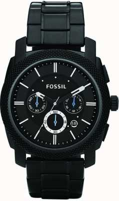 Fossil Reloj de pulsera para hombre negro cronógrafo FS4552
