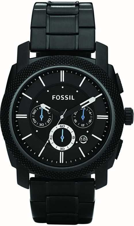 67aae0637377 Fossil Reloj De Pulsera Para Hombre Negro Cronógrafo FS4552 - First ...