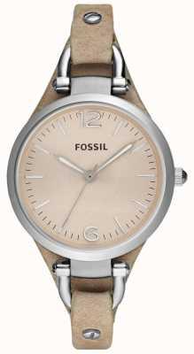 Fossil Correa de la correa de cuero análogo Ladies ES2830