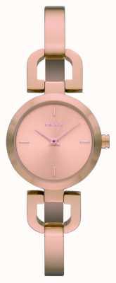 DKNY Señoras subieron reloj de acero inoxidable de oro NY8542