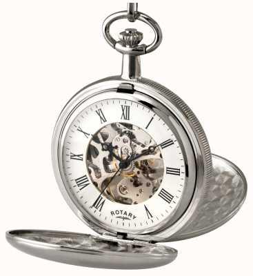 Rotary Reloj de bolsillo esqueleto de acero inoxidable de Gent MP00726/01