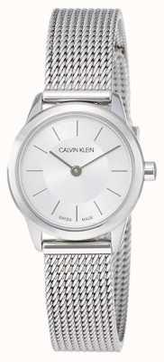 Calvin Klein Minimalista para mujer | correa de malla de acero inoxidable | K3M23126
