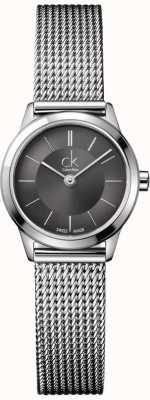 Calvin Klein Señoras brazalete de acero con los patrones de cuerda K3M23124