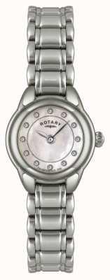 Rotary Reloj de acero inoxidable para mujer con ex-reloj de piedra LB02601/07-EXDISPLAY