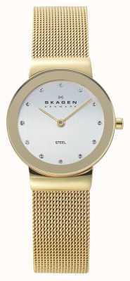Skagen Reloj de malla dorada Ladies 358SGGD