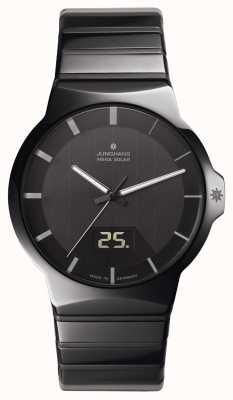 Junghans Fuerza caballeros reloj de cerámica negro 018/1133.44