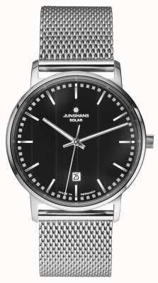 Junghans Reloj Milano caballeros de plata malla de acero inoxidable Correa 014/4061.44