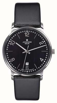 Junghans Reloj de la correa Milano caballeros negro 014/4062.00