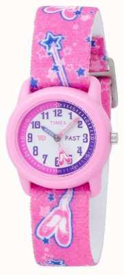 Reloj Timex Infantil Bailarina Rosa Analógico Correa T7B151