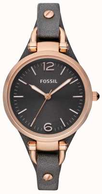 Fossil Reloj análogo de la correa de cuero de las señoras ES3077