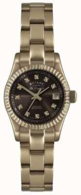 Rotary Reloj de oro rosa para mujer les originales verbier ex-display LB08153/16EX-DISPLAY