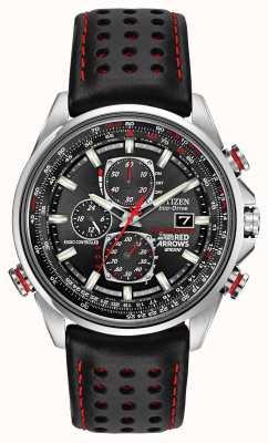 Citizen Flechas rojas de Gent en d9 reloj cronógrafo eco-drive AT8060-09E