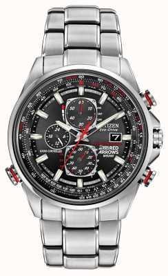 Citizen Flechas rojas de Gent en d9 reloj cronógrafo eco-drive AT8060-50E