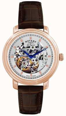 Reloj Caballero Rotary Les Originales Correa Piel Marrón GS90505/06