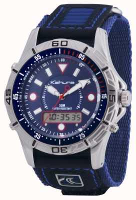 Kahuna Mens velcro cronógrafo azul de liberación rápida K5V-0005G
