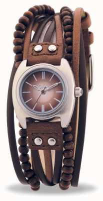 Reloj Señora Kahuna Multi bandas Correa Piel Marrón KLS-0083L  AKLS-0083L