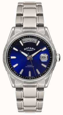 Rotary De acero inoxidable de la pulsera de reloj de la habana Gent GB02660/05