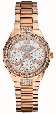 Guess Ladies 'viva multidial oro rosa de tono reloj deportivo W0111L3