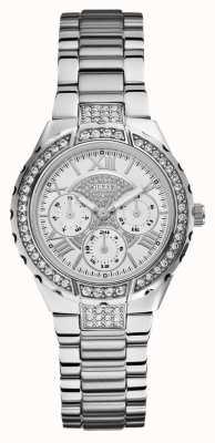 Guess Viva multidial tono de plata reloj de los deportes de las señoras W0111L1