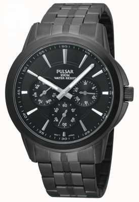 Pulsar Reloj para hombre de acero inoxidable chapado en negro iones PP6015X1