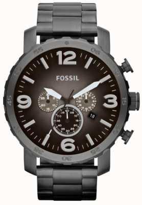 Fossil Cronógrafo de acero inoxidable para hombre nate JR1437