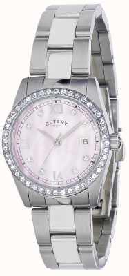 Reloj Señora Rotary Habana Conjunto Cristal Pulsera Acero LB02343/07