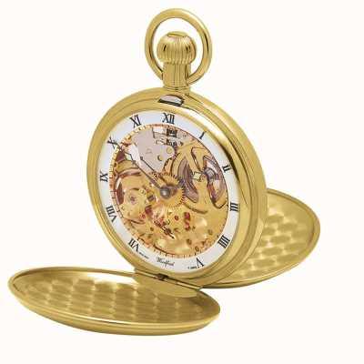 Woodford El | esqueleto cazador | doble tapa | placa de oro | reloj de bolsillo | 1014