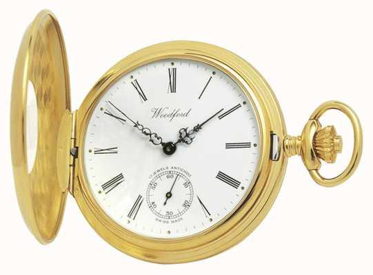 Woodford El | medio cazador | chapado en oro | reloj de bolsillo | 1015