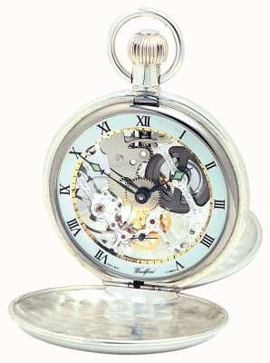 Woodford El | esqueleto cazador | doble tapa | plata | reloj de bolsillo | 1002