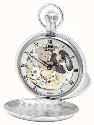 Woodford El | esqueleto cazador | doble tapa | plata | reloj de bolsillo | 1003