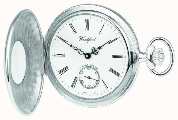 Woodford Para hombre del reloj análogo mecánico de cuerda manual de plata 1004
