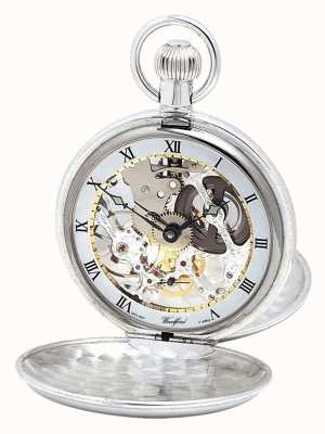 Woodford Reloj de bolsillo plateado con doble tapa y cadena albert 1066