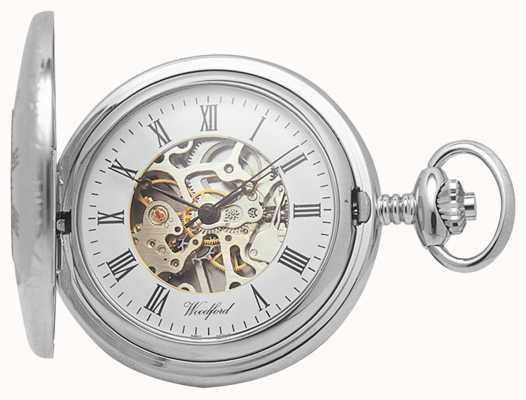 Woodford El | medio cazador | cromado | esqueleto | reloj de bolsillo | 1020
