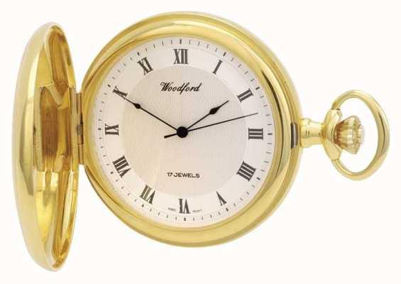 Woodford El | cazador completo | chapado en oro | reloj de bolsillo | 1028