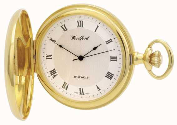 Woodford   cazador completo   chapado en oro   reloj de bolsillo   1028