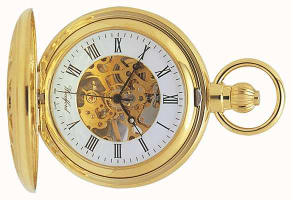 Woodford El | esqueleto cazador | chapado en oro cortado | reloj de bolsillo | 1029