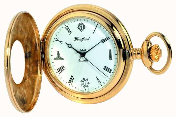 Woodford Reloj de bolsillo medio cazador para hombre 1213