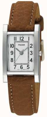 Reloj de Señora Pulsar Acero Inoxidable, Correa Piel Tostada PC3163X1