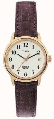 Timex Las señoras de Brown fácil de relojes naturales lector T20071