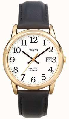 Timex Para hombre blanco negro fácil reloj lector T2H291